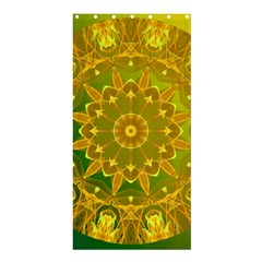 Yellow Green Abstract Wheel Of Fire Shower Curtain 36  X 72  (stall)  by DianeClancy