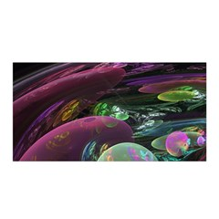Creation Of The Rainbow Galaxy, Abstract Satin Wrap by DianeClancy
