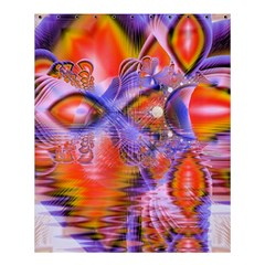 Crystal Star Dance, Abstract Purple Orange Shower Curtain 60  X 72  (medium)  by DianeClancy
