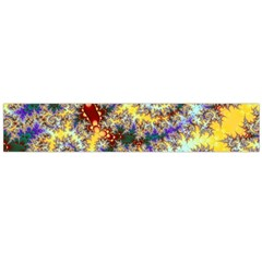 Desert Winds, Abstract Gold Purple Cactus  Flano Scarf (large) by DianeClancy