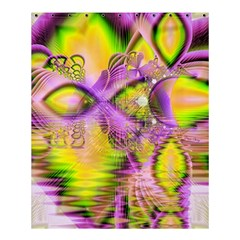 Golden Violet Crystal Heart Of Fire, Abstract Shower Curtain 60  X 72  (medium)  by DianeClancy