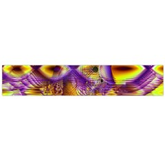 Golden Violet Crystal Palace, Abstract Cosmic Explosion Flano Scarf (large) by DianeClancy