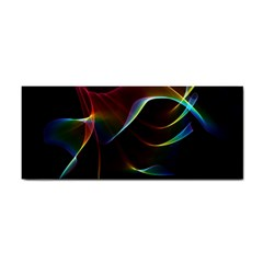 Imagine, Through The Abstract Rainbow Veil Hand Towel by DianeClancy