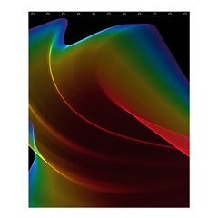 Liquid Rainbow, Abstract Wave Of Cosmic Energy  Shower Curtain 60  X 72  (medium)  by DianeClancy