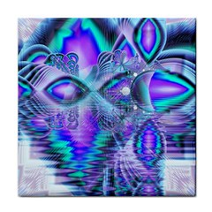 Peacock Crystal Palace Of Dreams, Abstract Face Towel by DianeClancy