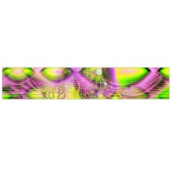 Raspberry Lime Mystical Magical Lake, Abstract  Flano Scarf (large) by DianeClancy