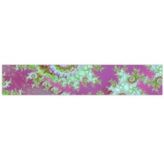 Raspberry Lime Surprise, Abstract Sea Garden  Flano Scarf (large) by DianeClancy