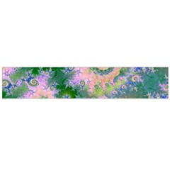 Rose Apple Green Dreams, Abstract Water Garden Flano Scarf (large) by DianeClancy