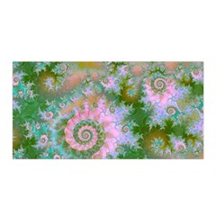 Rose Forest Green, Abstract Swirl Dance Satin Wrap by DianeClancy