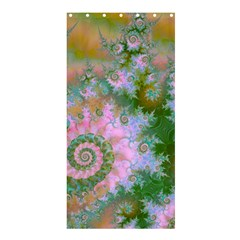 Rose Forest Green, Abstract Swirl Dance Shower Curtain 36  X 72  (stall)  by DianeClancy