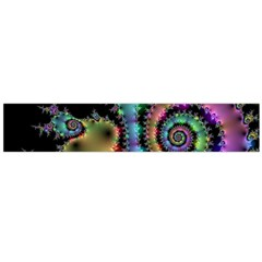 Satin Rainbow, Spiral Curves Through The Cosmos Flano Scarf (large) by DianeClancy