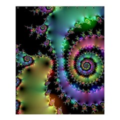 Satin Rainbow, Spiral Curves Through The Cosmos Shower Curtain 60  X 72  (medium)  by DianeClancy