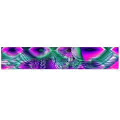 Teal Violet Crystal Palace, Abstract Cosmic Heart Flano Scarf (large) by DianeClancy