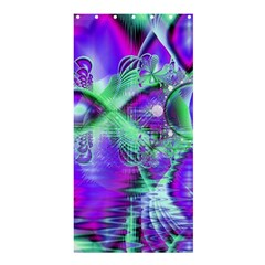 Violet Peacock Feathers, Abstract Crystal Mint Green Shower Curtain 36  X 72  (stall)