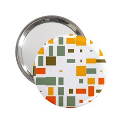 Rectangles And Squares In Retro Colors  			2 25  Handbag Mirror by LalyLauraFLM