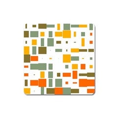 Rectangles And Squares In Retro Colors  			magnet (square) by LalyLauraFLM
