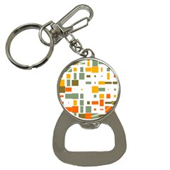 Rectangles And Squares In Retro Colors  			bottle Opener Key Chain by LalyLauraFLM