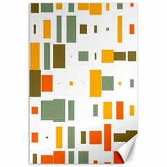 Rectangles And Squares In Retro Colors  			canvas 24  X 36  by LalyLauraFLM