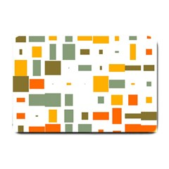 Rectangles And Squares In Retro Colors  			small Doormat by LalyLauraFLM