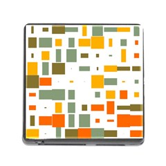 Rectangles And Squares In Retro Colors  			memory Card Reader (square) by LalyLauraFLM