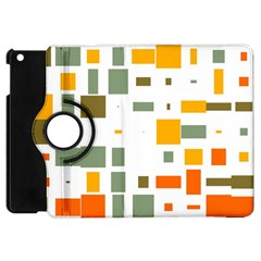 Rectangles And Squares In Retro Colors  			apple Ipad Mini Flip 360 Case by LalyLauraFLM