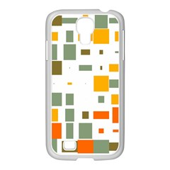 Rectangles And Squares In Retro Colors  			samsung Galaxy S4 I9500/ I9505 Case (white) by LalyLauraFLM