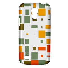Rectangles And Squares In Retro Colors  			samsung Galaxy S4 Mini (gt I9190) Hardshell Case by LalyLauraFLM