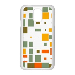 Rectangles And Squares In Retro Colors  			samsung Galaxy S5 Case (white) by LalyLauraFLM