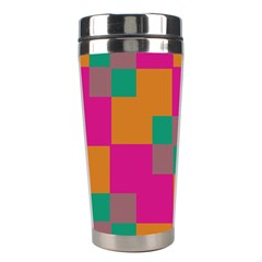 Squares    Stainless Steel Travel Tumbler by LalyLauraFLM