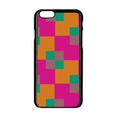 Squares    			apple Iphone 6/6s Black Enamel Case by LalyLauraFLM