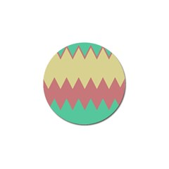 Retro Chevrons     			golf Ball Marker (4 Pack) by LalyLauraFLM