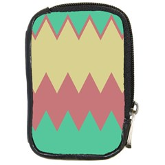 Retro Chevrons     			compact Camera Leather Case by LalyLauraFLM