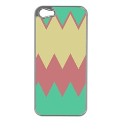 Retro Chevrons     			apple Iphone 5 Case (silver) by LalyLauraFLM