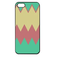 Retro Chevrons     			apple Iphone 5 Seamless Case (black) by LalyLauraFLM