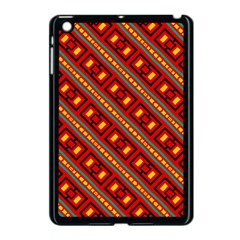 Distorted Stripes And Rectangles Pattern      			apple Ipad Mini Case (black) by LalyLauraFLM