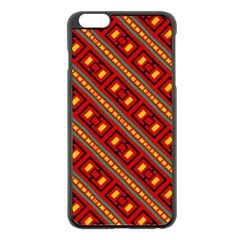 Distorted Stripes And Rectangles Pattern      			apple Iphone 6 Plus/6s Plus Black Enamel Case by LalyLauraFLM