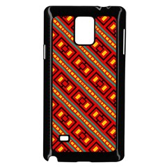 Distorted Stripes And Rectangles Pattern      			samsung Galaxy Note 4 Case (black) by LalyLauraFLM