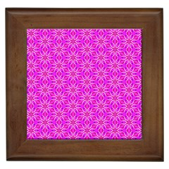 Pink Snowflakes Spinning In Winter Framed Tiles by DianeClancy