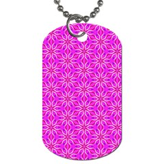 Pink Snowflakes Spinning In Winter Dog Tag (two Sides) by DianeClancy