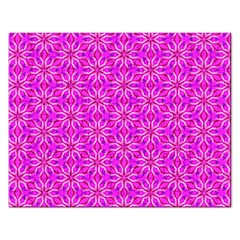 Pink Snowflakes Spinning In Winter Rectangular Jigsaw Puzzl by DianeClancy