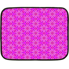 Pink Snowflakes Spinning In Winter Double Sided Fleece Blanket (mini)  by DianeClancy