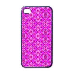 Pink Snowflakes Spinning In Winter Apple Iphone 4 Case (black) by DianeClancy