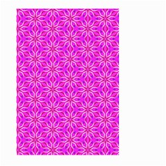 Pink Snowflakes Spinning In Winter Large Garden Flag (two Sides) by DianeClancy