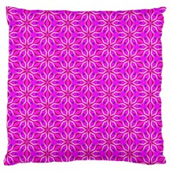 Pink Snowflakes Spinning In Winter Large Cushion Case (one Side) by DianeClancy