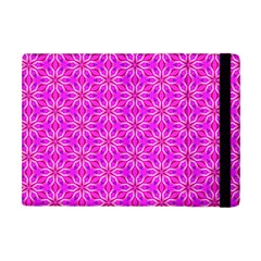 Pink Snowflakes Spinning In Winter Apple Ipad Mini Flip Case by DianeClancy