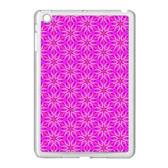 Pink Snowflakes Spinning In Winter Apple Ipad Mini Case (white) by DianeClancy