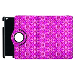 Pink Snowflakes Spinning In Winter Apple Ipad 2 Flip 360 Case