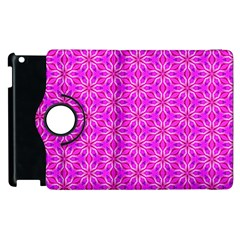 Pink Snowflakes Spinning In Winter Apple Ipad 3/4 Flip 360 Case by DianeClancy