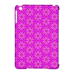 Pink Snowflakes Spinning In Winter Apple Ipad Mini Hardshell Case (compatible With Smart Cover) by DianeClancy