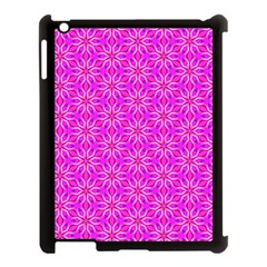 Pink Snowflakes Spinning In Winter Apple Ipad 3/4 Case (black) by DianeClancy